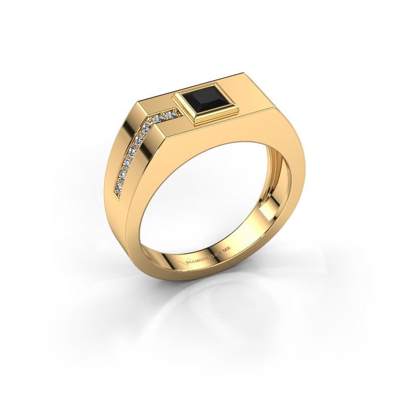Herrenring Robertus 1 585 Gold Schwarz Diamant 0.576 crt