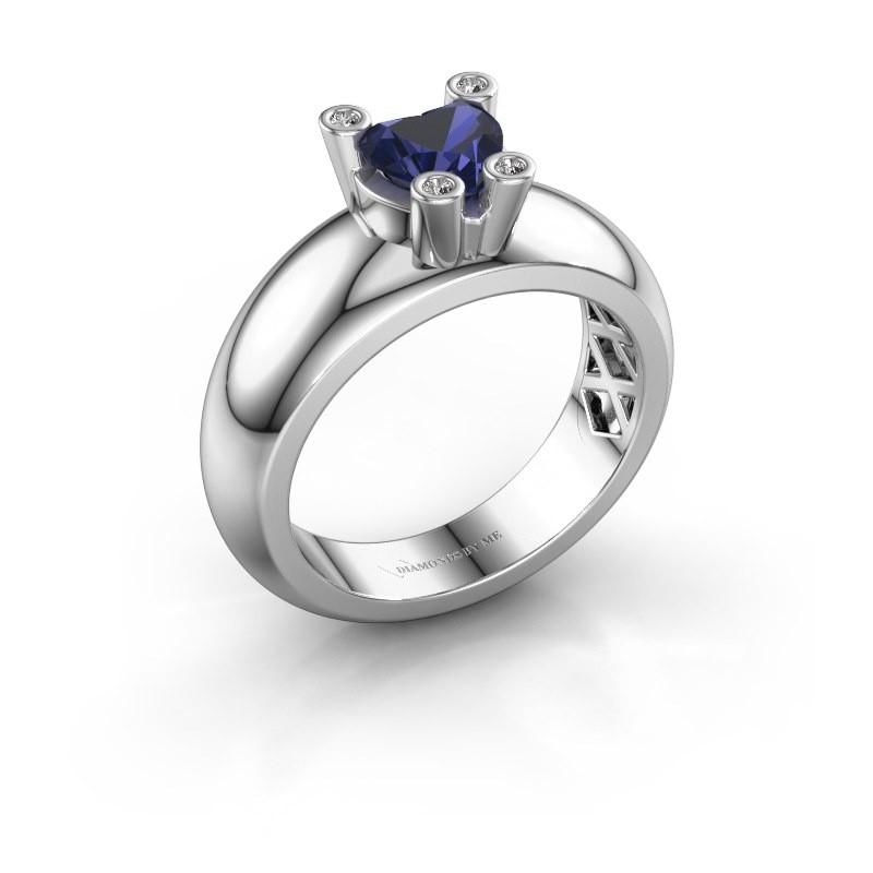 Ring Cornelia Heart 925 Silber Saphir 6 mm
