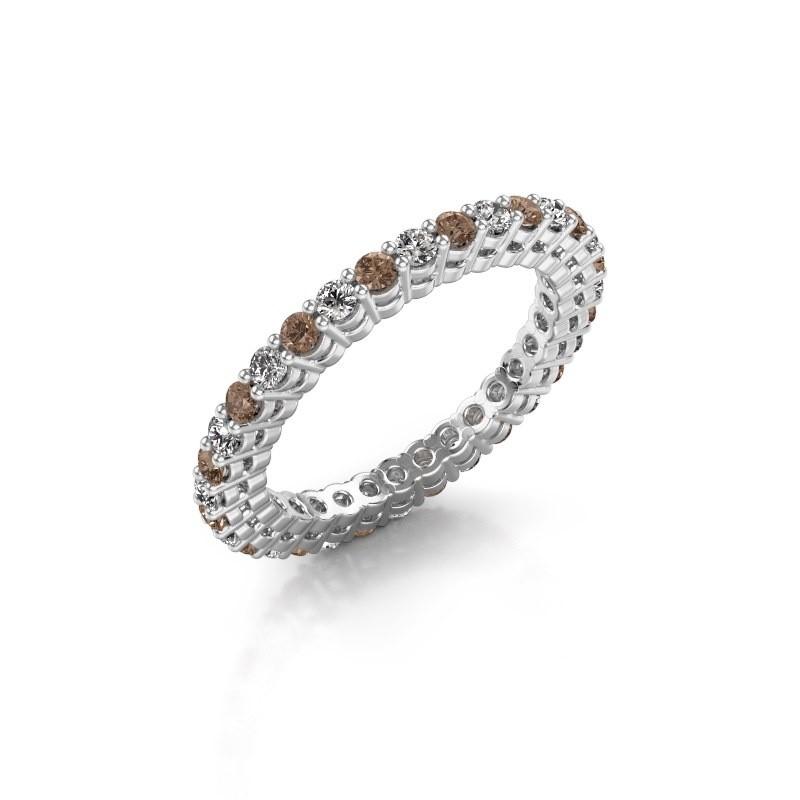 Aanschuifring Rufina 3 585 witgoud bruine diamant 0.896 crt