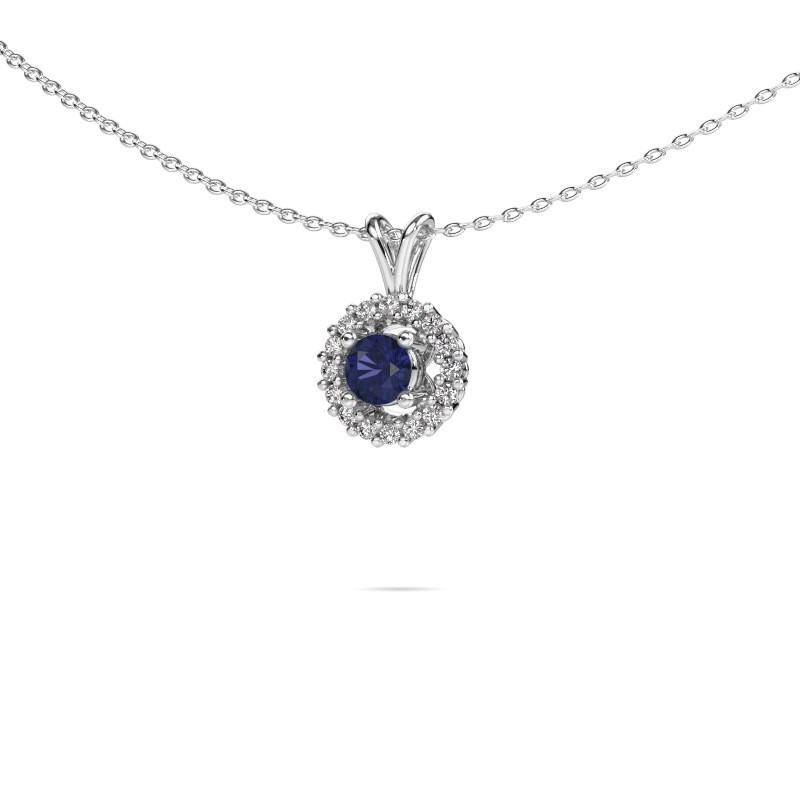 Pendant Tennille 925 silver sapphire 4 mm