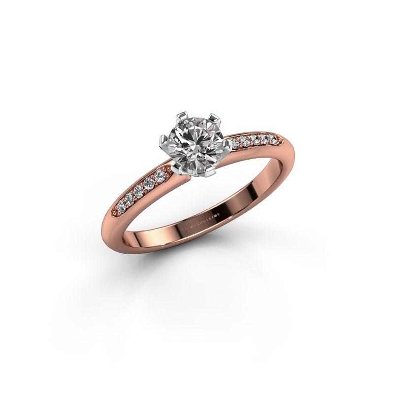 Engagement ring Tiffy 2 585 rose gold diamond 0.50 crt