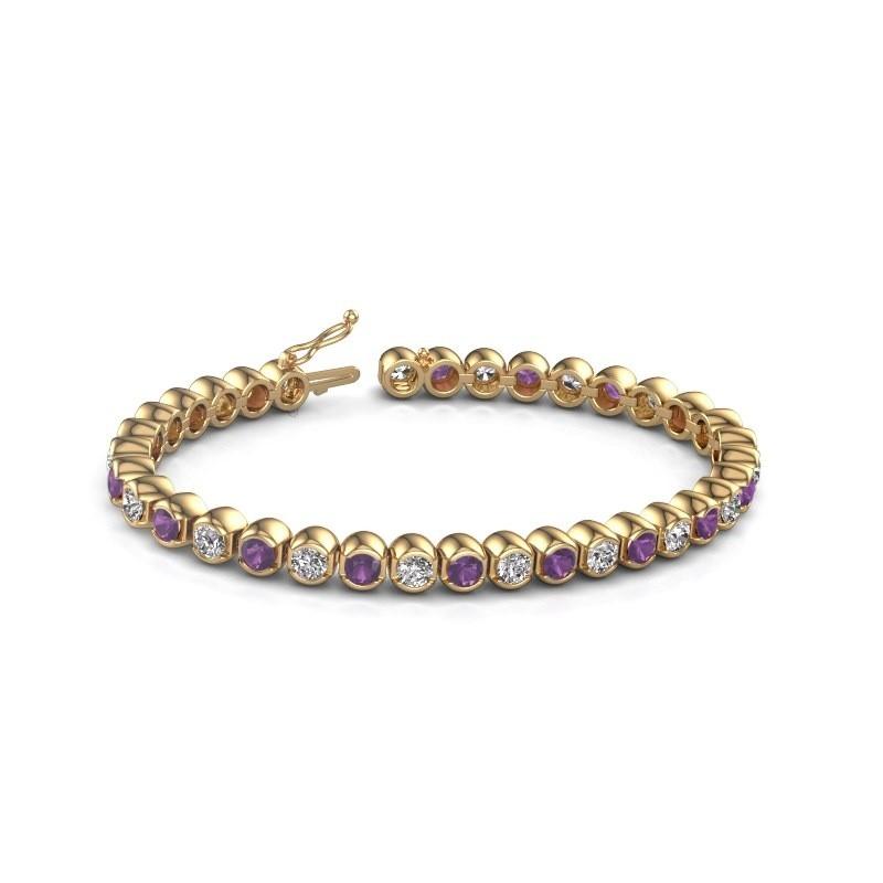 Tennis bracelet Bianca 375 gold amethyst 4 mm