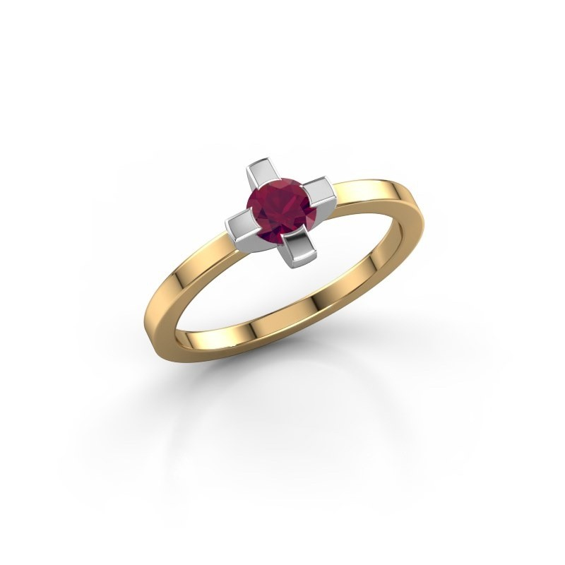 Ring Therese 585 goud rhodoliet 4.2 mm