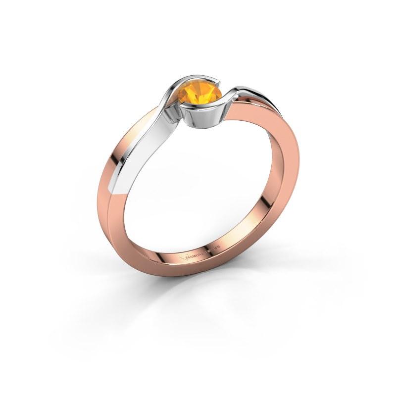 Ring Lola 585 Roségold Citrin 4 mm