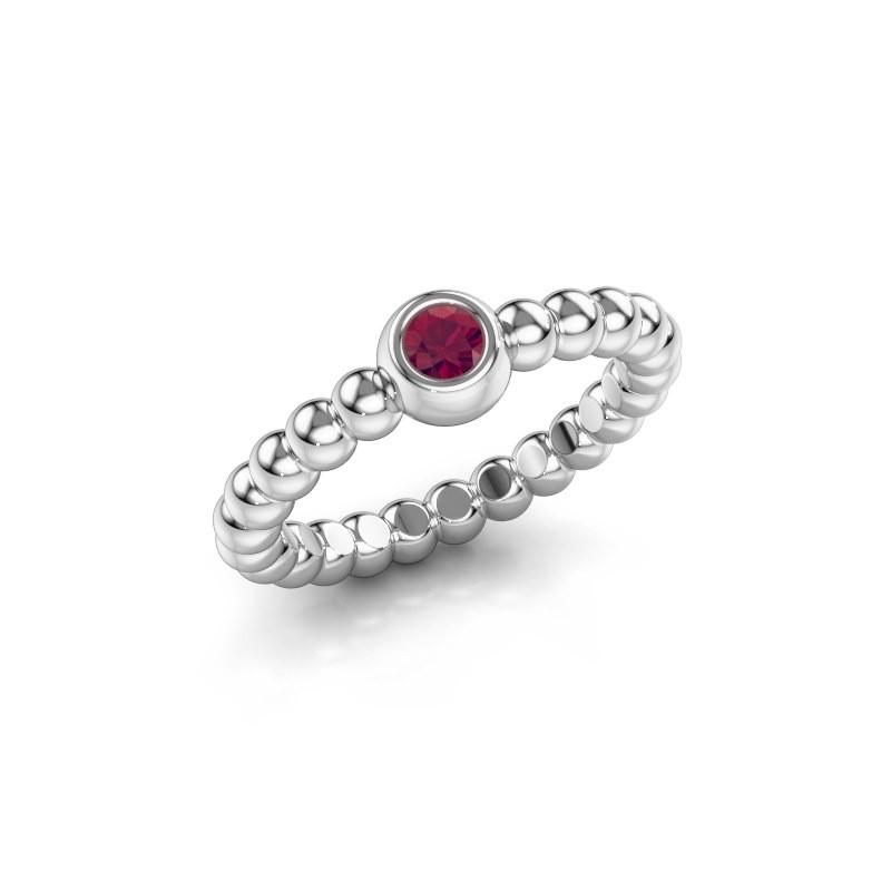 Stackable ring Dini 950 platinum rhodolite 3 mm