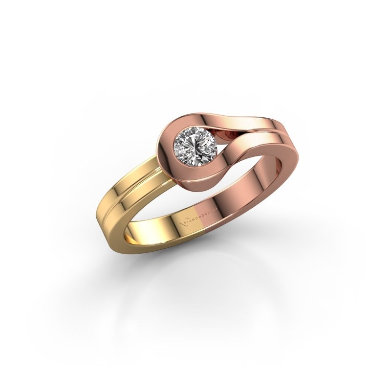 Bague Kiki 585 or rose diamant 0.25 crt