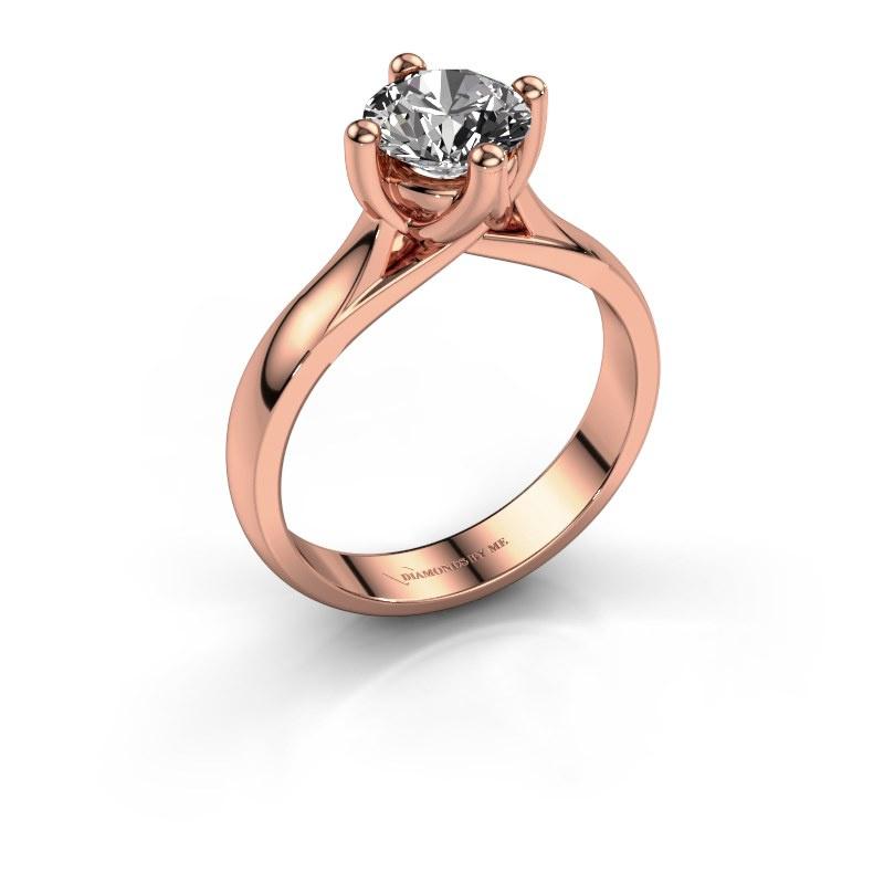 Bague de fiançailles Janne 585 or rose diamant 1.00 crt