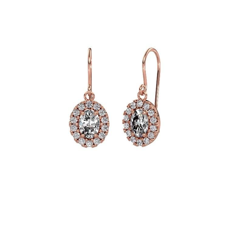 Drop earrings Jorinda 1 375 rose gold diamond 2.16 crt