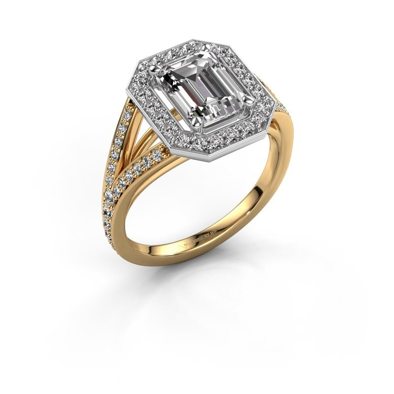 Promise ring Angelita EME 585 goud lab-grown diamant 2.279 crt