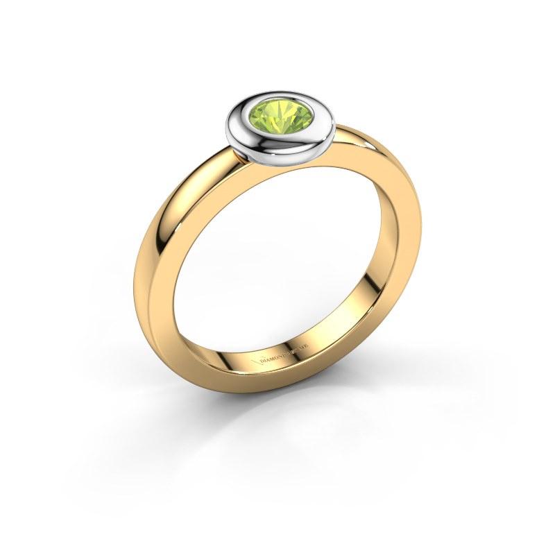 Ring Iris 585 gold peridot 4 mm