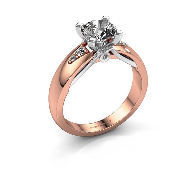 Verlovingsring Ize 585 rosé goud diamant 1.08 crt