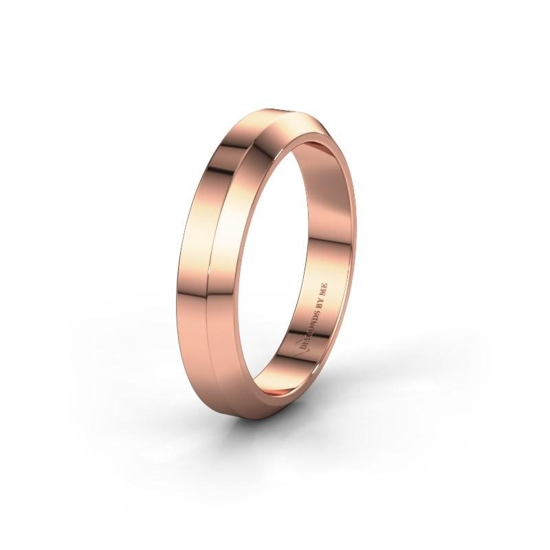 Trouwring WH2106M14C 375 rosé goud ±4x2 mm