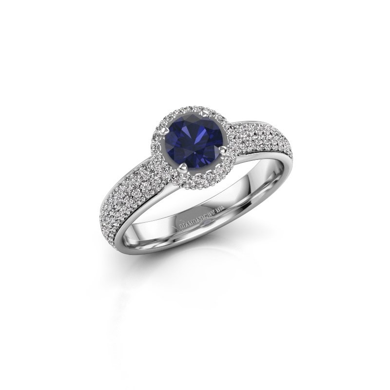 Engagement ring Mildred 925 silver sapphire 5 mm