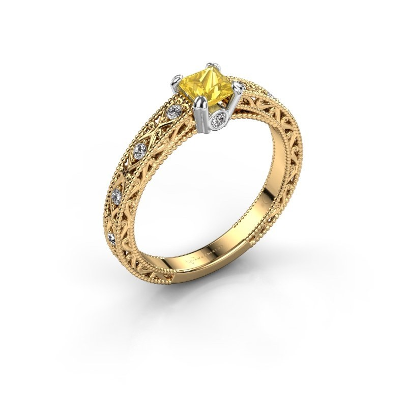 Engagement ring Ardella 585 gold yellow sapphire 4 mm