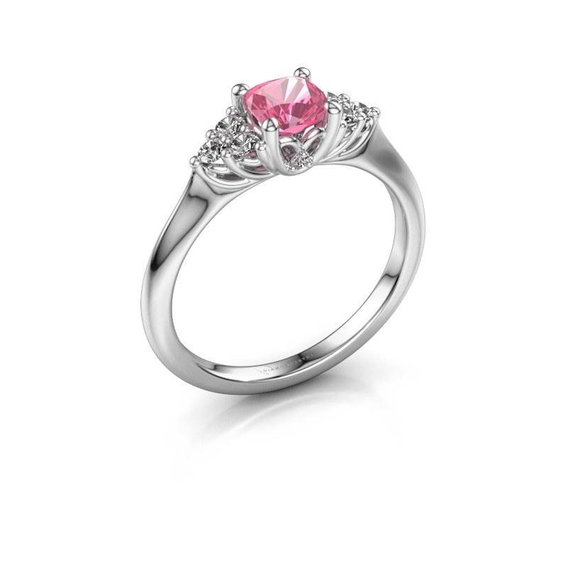Verlobungsring Felipa CUS 950 Platin Pink Saphir 5 mm