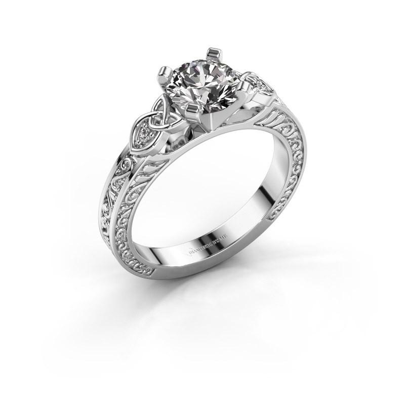 Engagement ring Gillian 585 white gold diamond 1.02 crt