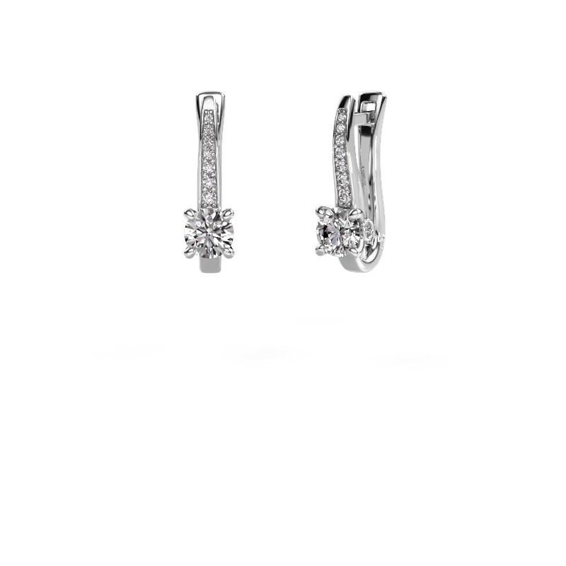 Oorbellen Valorie 950 platina diamant 0.98 crt