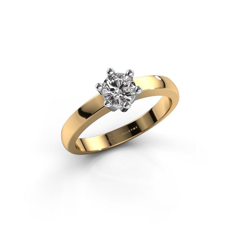 Engagement ring Luna 1 585 gold diamond 0.40 crt