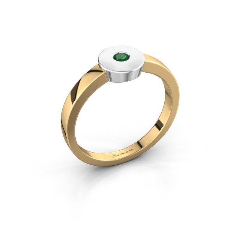 Ring Elisa 585 Gold Smaragd 3 mm