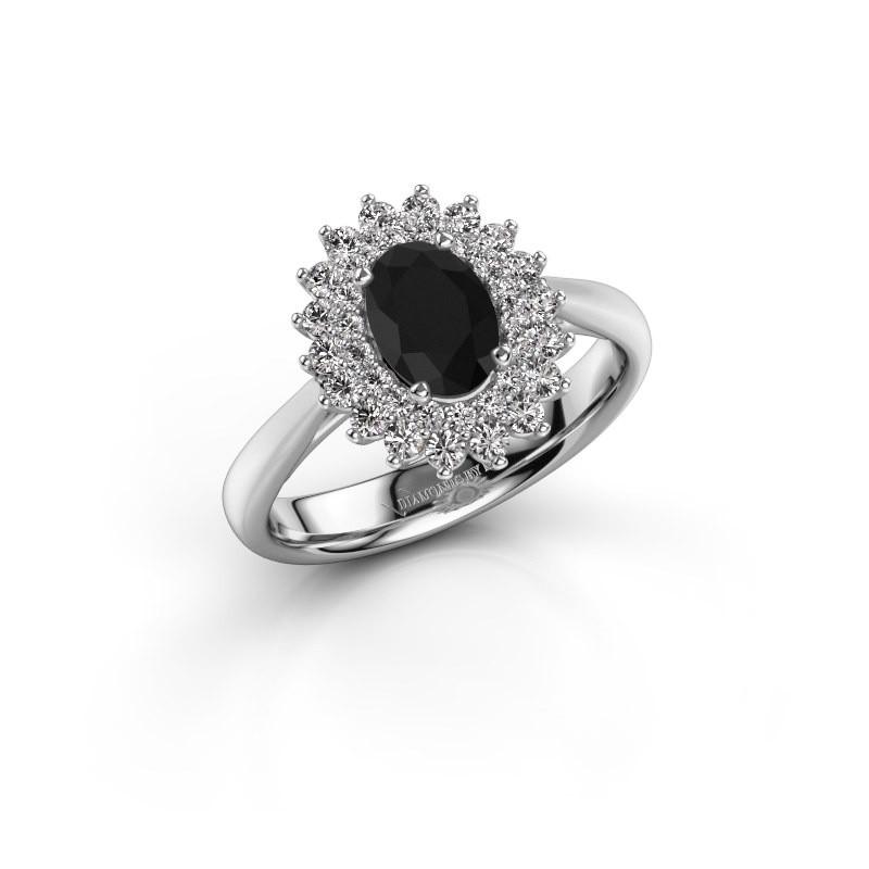 Engagement ring Alina 1 585 white gold black diamond 0.96 crt