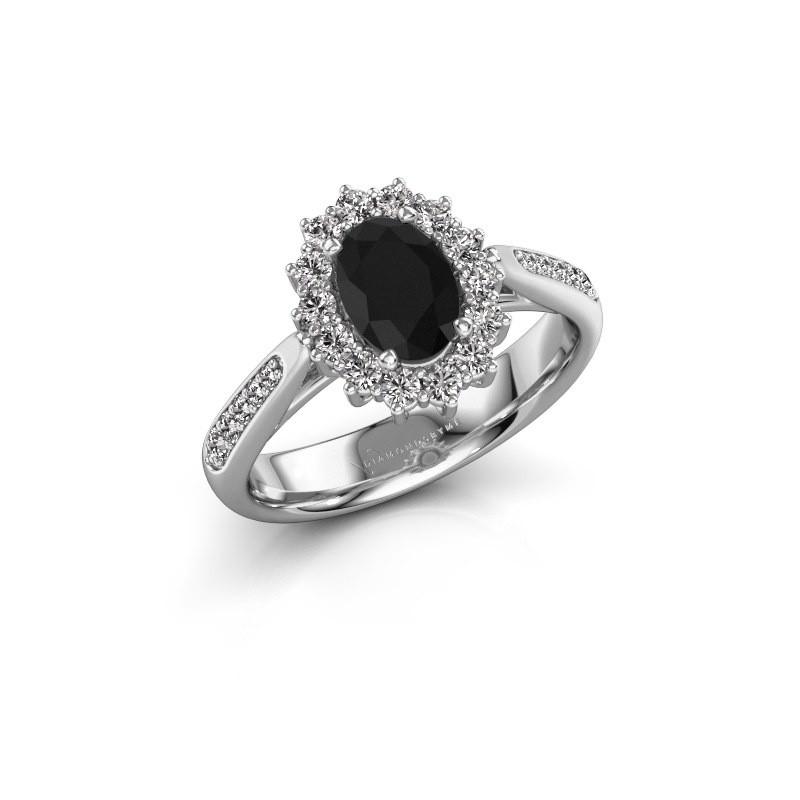 Engagement ring Margien 2 585 white gold black diamond 0.96 crt