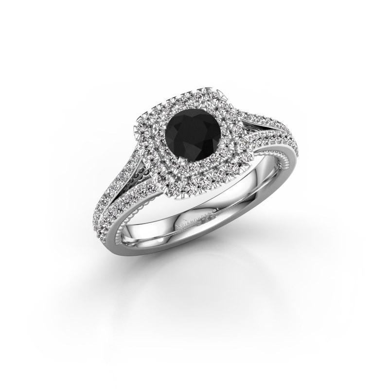 Verlobungsring Annette 585 Weißgold Schwarz Diamant 1.172 crt