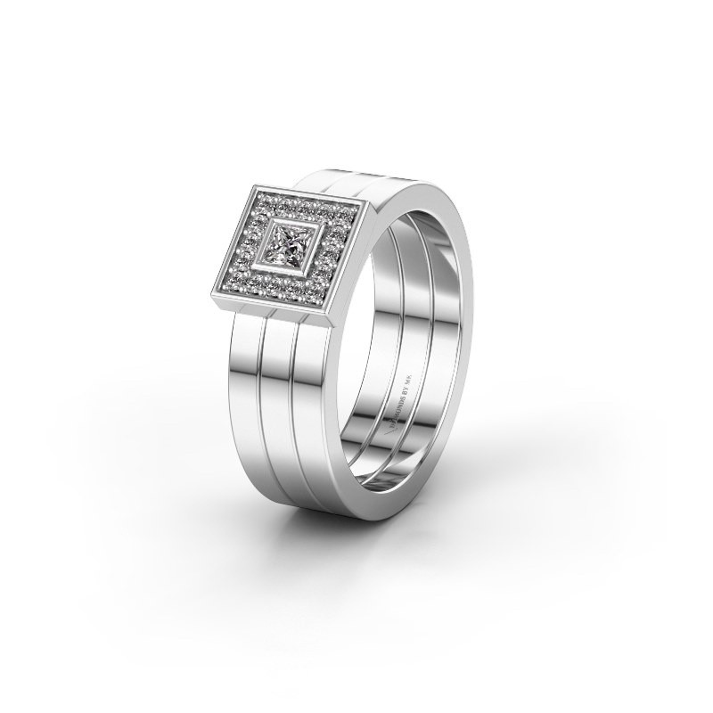 Trouwring WH2104L 585 witgoud diamant ±6x2.8 mm