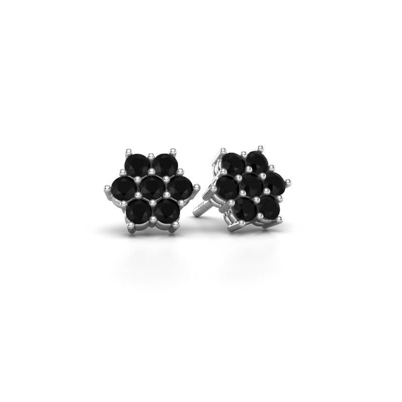 Oorstekers Bonita 925 zilver zwarte diamant 0.924 crt