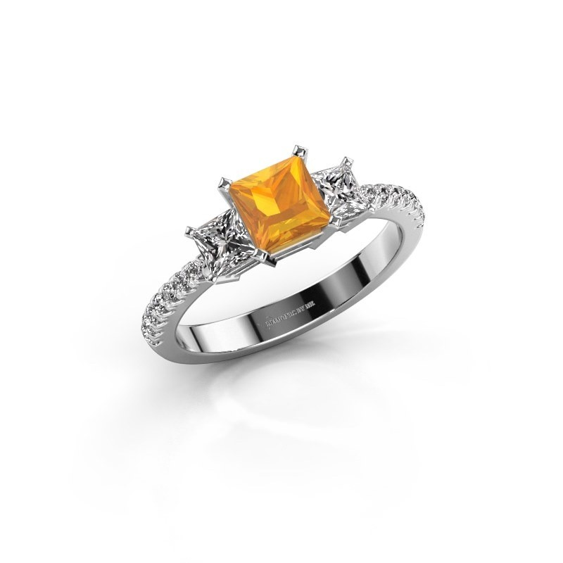 Engagement ring Dorla 925 silver citrin 5 mm
