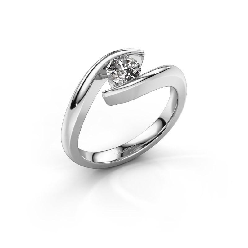 Aanzoeksring Alaina 950 platina diamant 0.50 crt