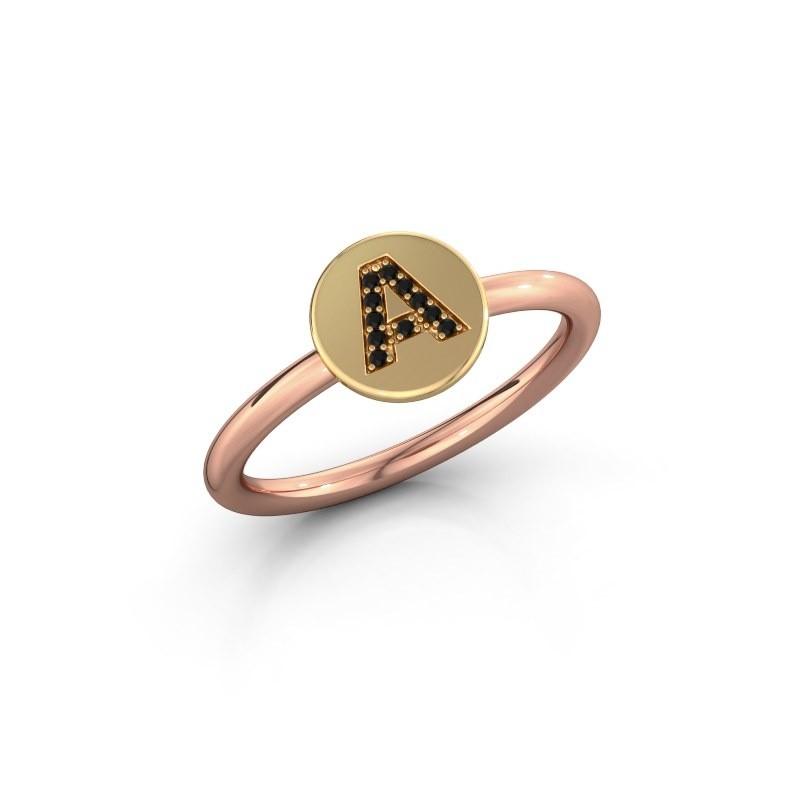 Ring Initial ring 050 585 rosé goud