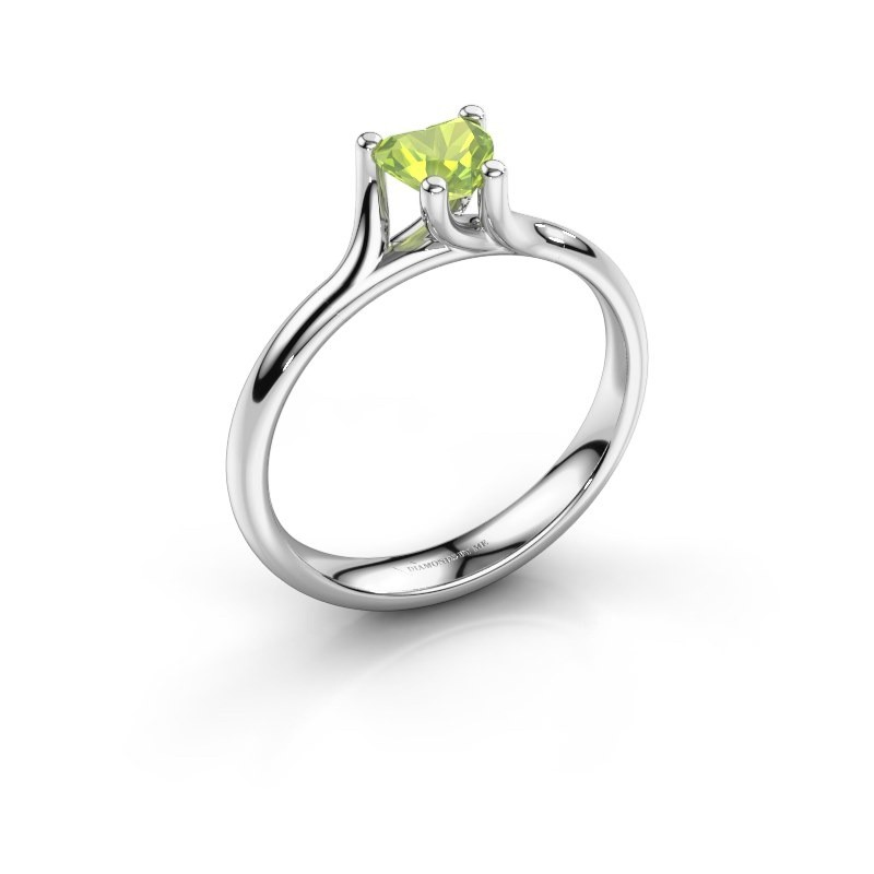 Verlobungsring Dewi Heart 925 Silber Peridot 5 mm