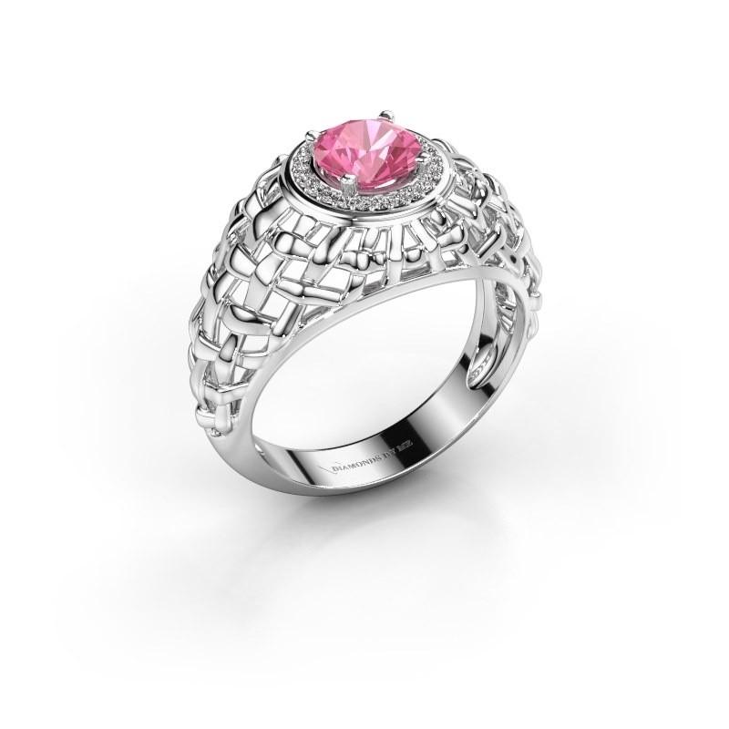 Pinky Ring Jens 950 Platin Pink Saphir 6.5 mm