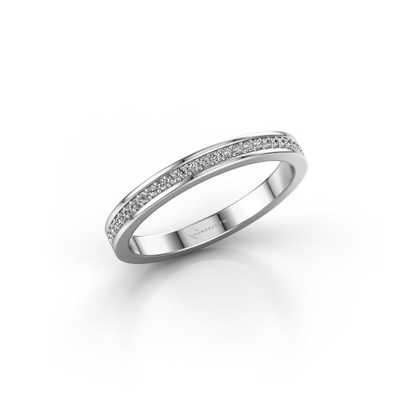 Stackable ring SRH0030B20H2 950 platinum diamond 0.135 crt