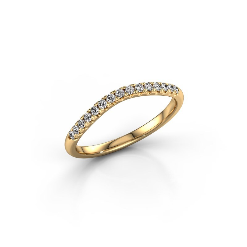 Stackable ring SR10A6H 375 gold diamond 0.18 crt