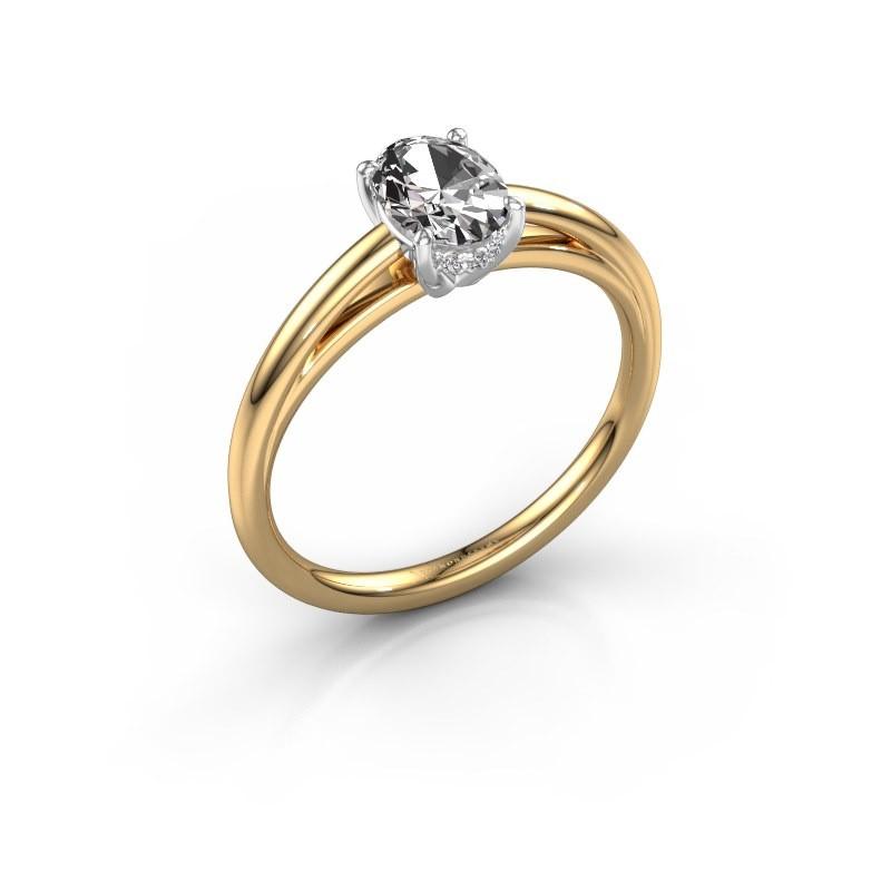Verlobungsring Haley OVL 1 585 Gold Zirkonia 7x5 mm