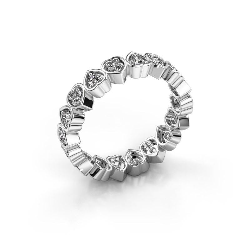 Stackable ring Pleun 375 white gold diamond 0.54 crt