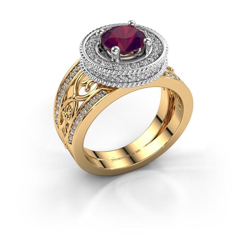 Ring Joy 585 Gold Rhodolit 6.5 mm