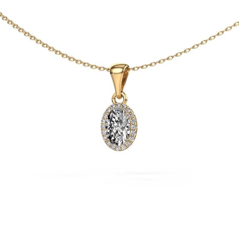Hanger Seline ovl 585 goud lab-grown diamant 0.90 crt