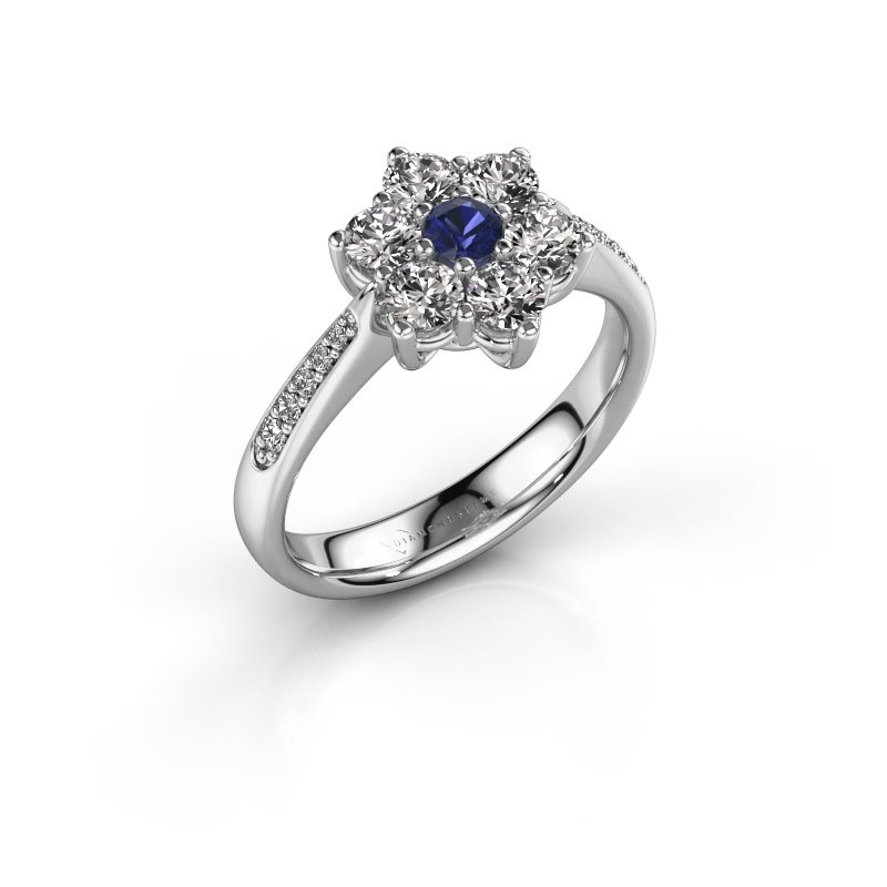 Engagement ring Chantal 2 585 white gold sapphire 3 mm