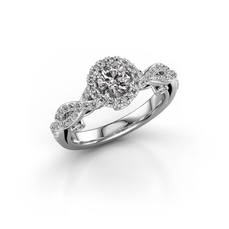 Verlovingsring Madeleine 585 witgoud lab-grown diamant 0.972 crt