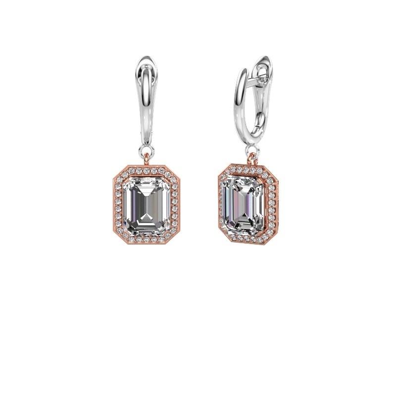 Oorhangers Dodie 1 585 rosé goud lab-grown diamant 2.50 crt
