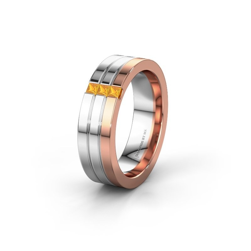 Wedding ring WH0428L16BP 585 rose gold citrin ±0.24x0.08 in