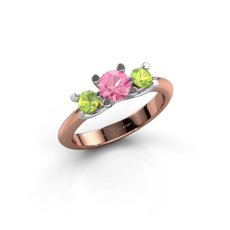 Ring Mirthe 585 rose gold pink sapphire 5 mm
