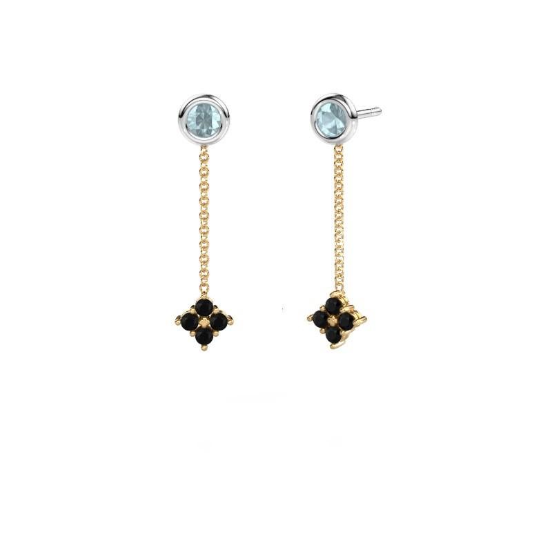 Oorhangers Ardith 585 goud zwarte diamant 0.288 crt