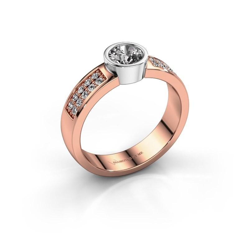 Verlovingsring Ise 3 585 rosé goud diamant 0.65 crt