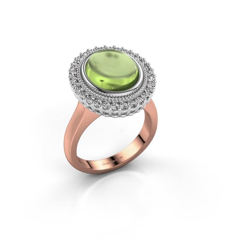 Ring Mila 585 rose gold peridot 12x10 mm