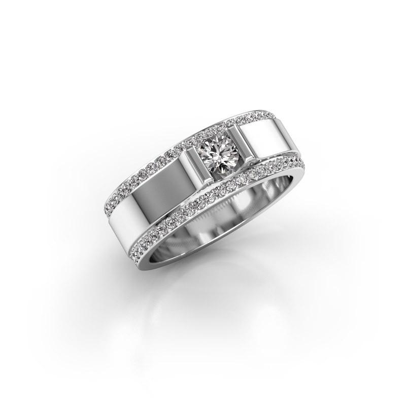 Men's ring Danillo 585 white gold lab grown diamond 0.705 crt
