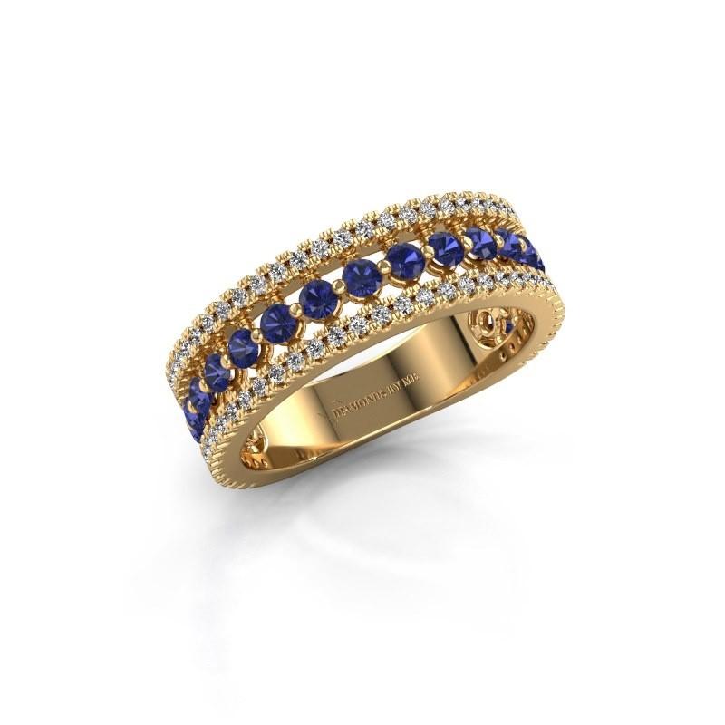 Verlobungsring Elizbeth 1 375 Gold Saphir 2 mm