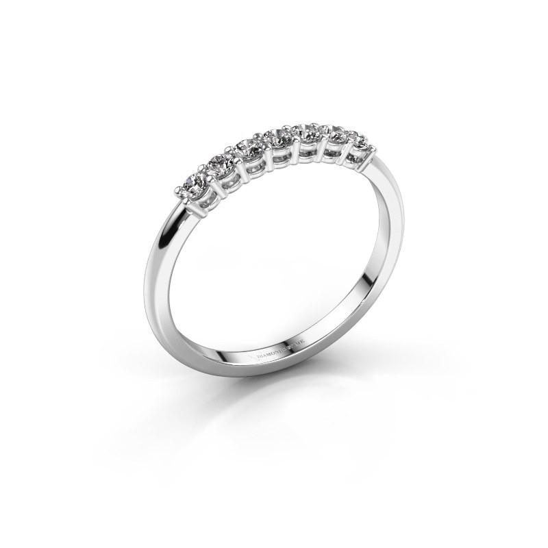 Verlobungsring Michelle 7 585 Weißgold Zirkonia 2 mm